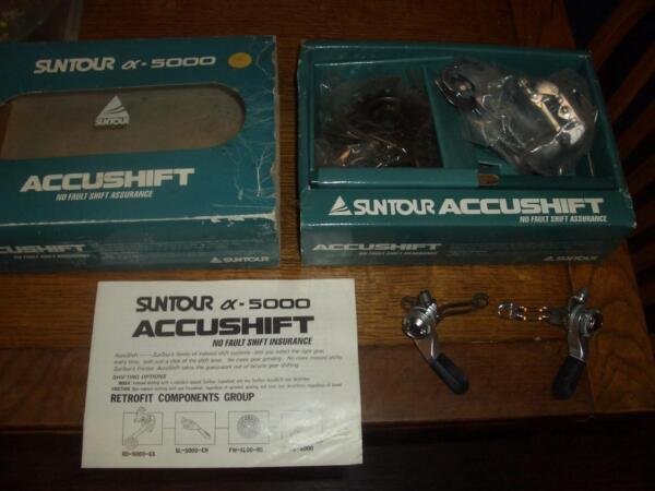 NOS Vintage Suntour Accushift AX-5000 Shifter Setup Index and Friction Shifting