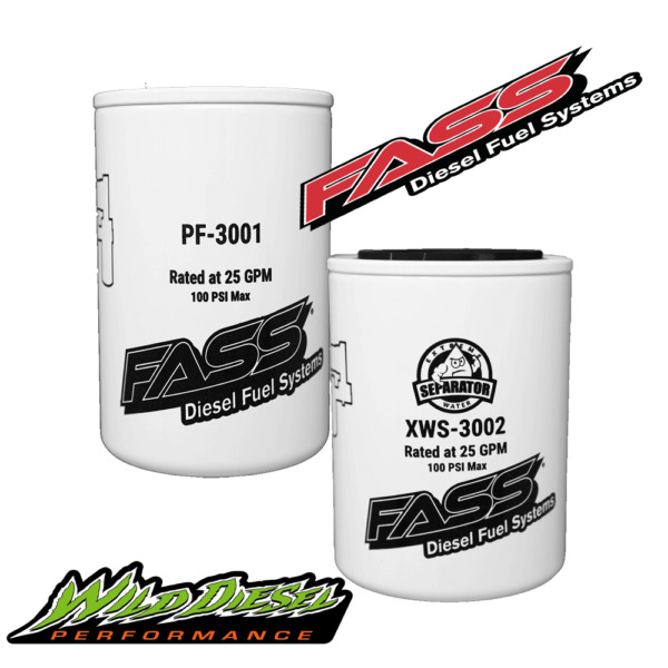 FASS Titanium Series Fuel Filter Package XWS 3002 PF 3001 Replaces FF 3003 $54.23