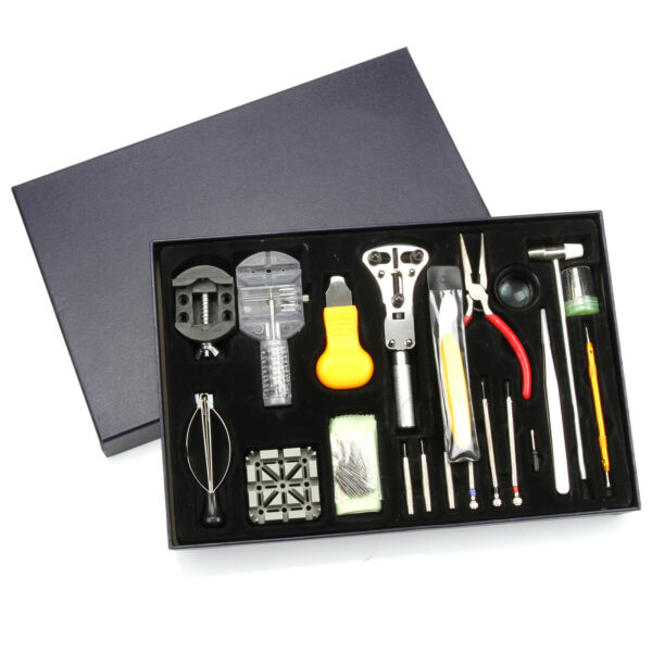 US Stock ~150 Pcs Durable Professional Watch Repair Tools Kits Set  with Case