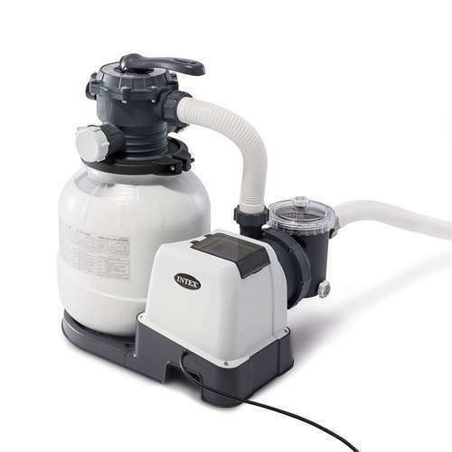 Intex 2100 GPH Above Ground Pool Sand Filter Pump with Automatic Timer Open Box $349.99