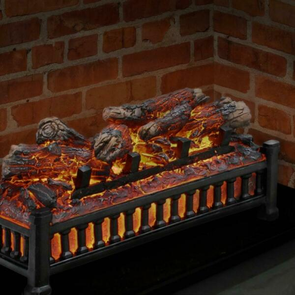 20 in. electric fireplace logs  pleasant hearth crackling insert realistic wood