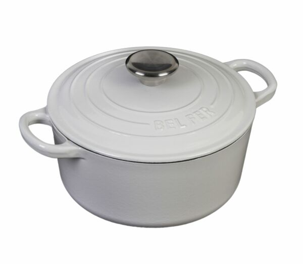 INSPIRED HOME  ENAMELED CAST IRON 5 QUART DUTCH OVEN