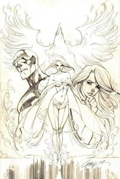 WHAT IF ASTONISHING X-MEN #1 ORIGINAL J. SCOTT CAMPBELL COMIC COVER ART MARVEL