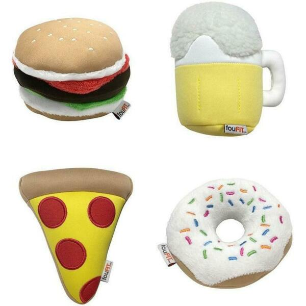 NEW Freeze 'N' Float Hamburger Pizza Donut Beer Dog Toy Plush Munchies by fouFIT