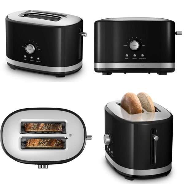 2 slice onyx black toaster high lift wide kitchenaid® slot new with oven bagel