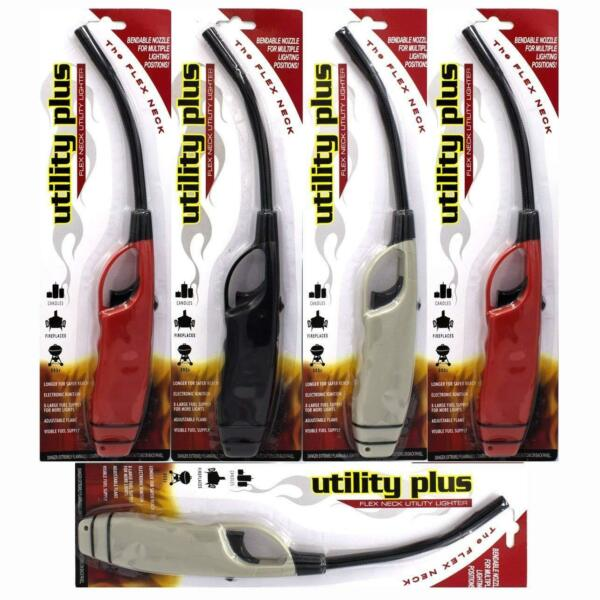 Elite Long Flexible Neck Fire Lighters 5 Pack Candle Grill Fireplace BBQ Stove