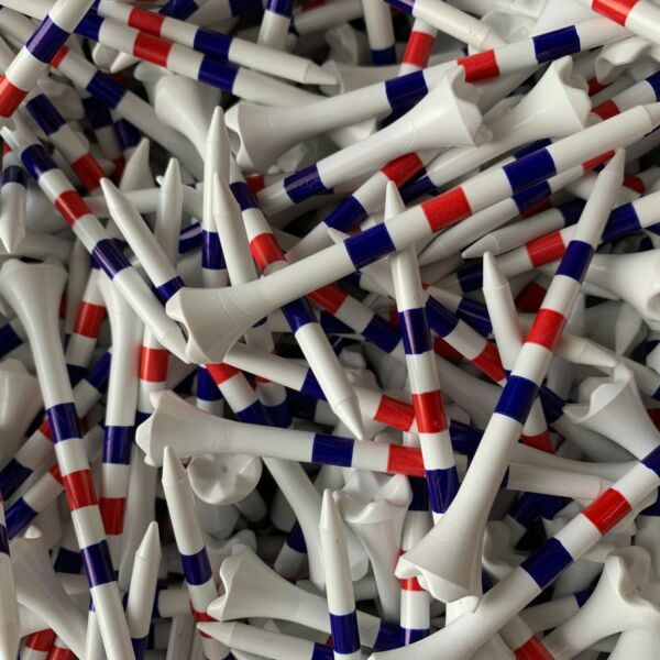 NEW 3 1 4quot; 3.25 Pride Evolution American USA Flag Color Striped Golf Tees $17.95