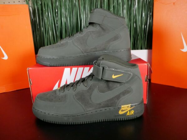 Nike Air Force 1 Mid '07 Sequoia/Sequoia-Yellow Ochre 315123 304 Size 10