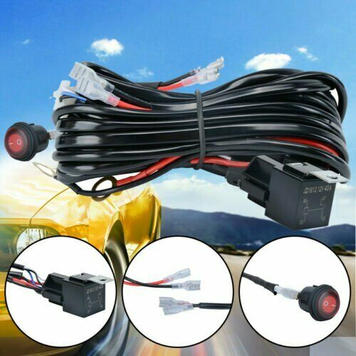 1PCS Wiring Harness Switch Relay Kit for Connect 2 LED Work Driving Light Bar