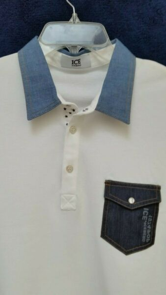 ICE ICEBERG Solid Cotton Polo Large 52 SK $78.96
