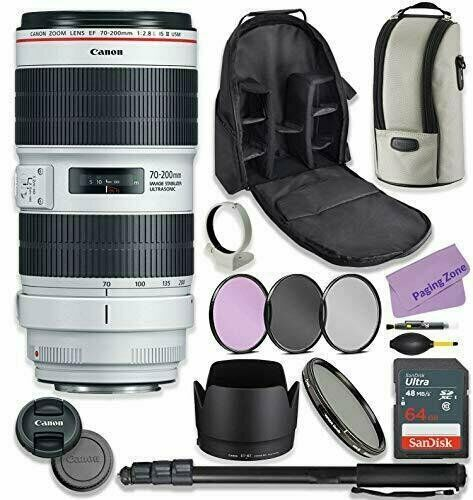 Canon EF 70-200mm f2.8L is III USM Lens Bundle with Premium Accessories