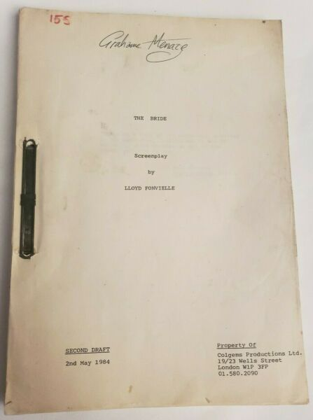 THE BRIDE  Lloyd Fonvielle 1984 Screenplay STING plays Frankenstein Horror Film