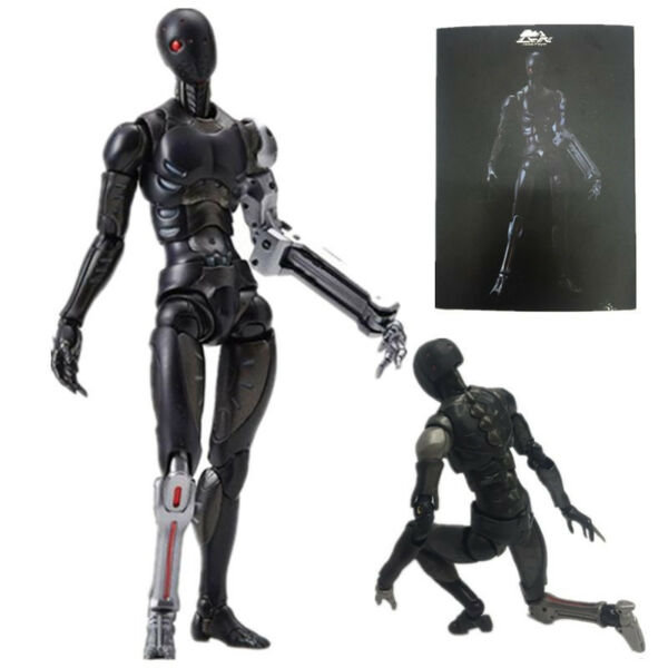 In Box TOA Heavy Industries Synthetic Human Black Body 112 Action Figure