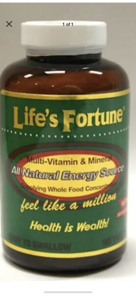 Life's Fortune Multi Vitamin Mineral Natural Energy 180 FREE FAST 1st Class Ship