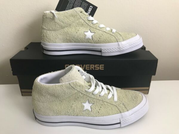 New Converse One Star Mid Sneakers 159594C Vapor Lemon Suede Men Shoes M 4 W 6
