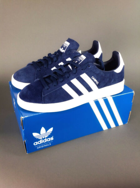 adidas Originals Campus Retro Suede Sneaker Dark Blue Size 9.5 Last 1 Available