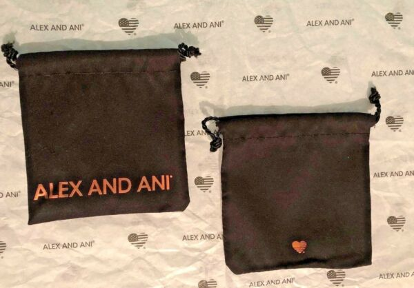 Alex and Ani Jewelry BraceletBangle Storage Fabric Dust Bag Pouch ~ Lot of 2