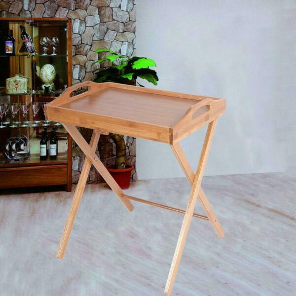 Portable Folding TV Tray Table Stand Dinner Coffee Kitchen Wood Furniture Picnic