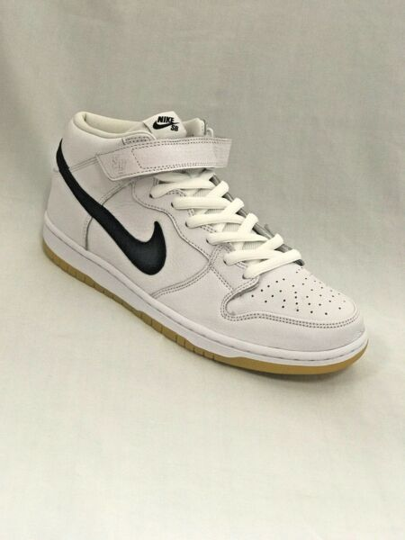 Nike SB Dunk mid PRO SB white/black-white CD6754 100 NIB DS Skate shoes SZ 11.5