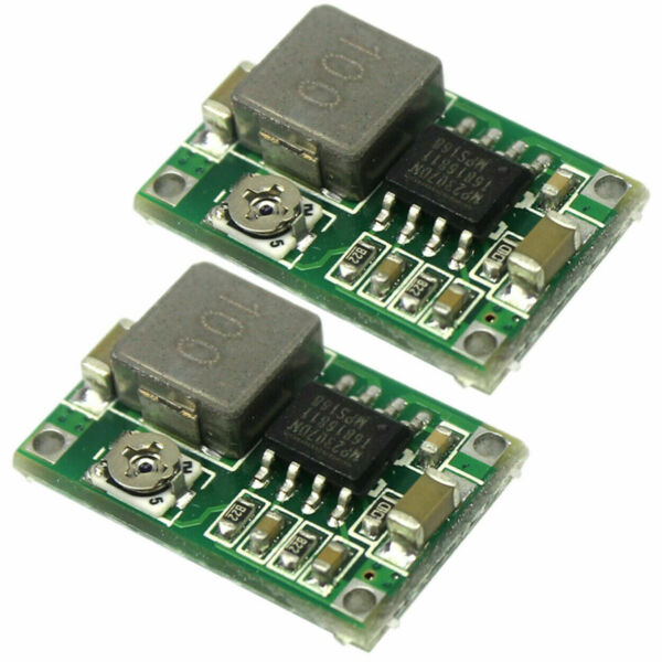2pcs Mini360 3A DC Voltage Step Down Power Converter Buck Module 3.3V 5V 9V 12V