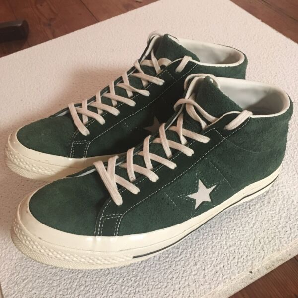 Converse One Star '74 Mid Vintage Unisex Suede Shoe 157700C Size Men 12 Women 14
