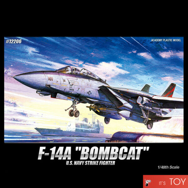 Academy 148 F-14A BOMBCAT USN Strike Fighter Aircraft Plastic model kit #12206