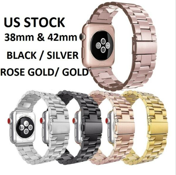 For Apple Watch Series 321 Stainless Steel Wrist iWatch Band Strap 3842mm