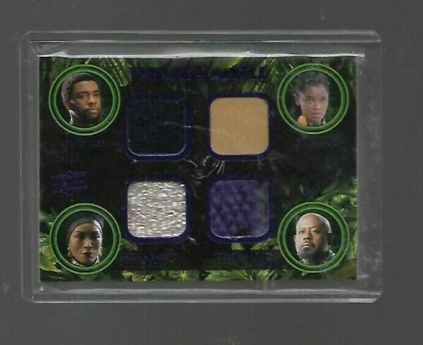 BLACK PANTHER 2018 UPPER DECK BLACK PANTHER THE KING'S MANTLE QUAD RELIC card
