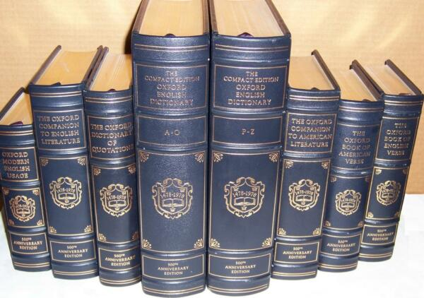 Franklin Library OXFORD REFERENCE CLASSICS OF THE ENGLISH LANGUAGE in 8 vols