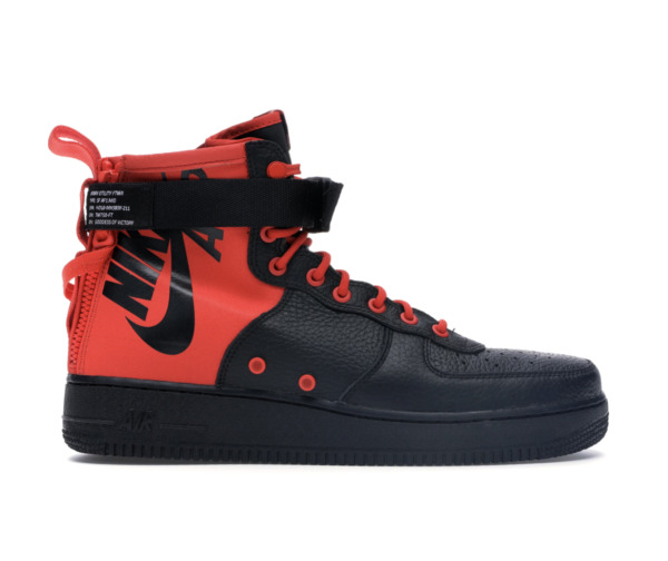 Nike SF AF 1 Air Force One Mid Habanero Red/Black Men's Size 7.5 NEW