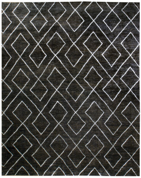 Moroccan Transitional Rug (Jute and Viscose) - 12' x 15'