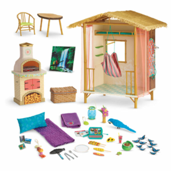 NIB ~ American Girl LEA RAINFOREST HOUSE ~ Lea's Complete Furniture Hut Hammock