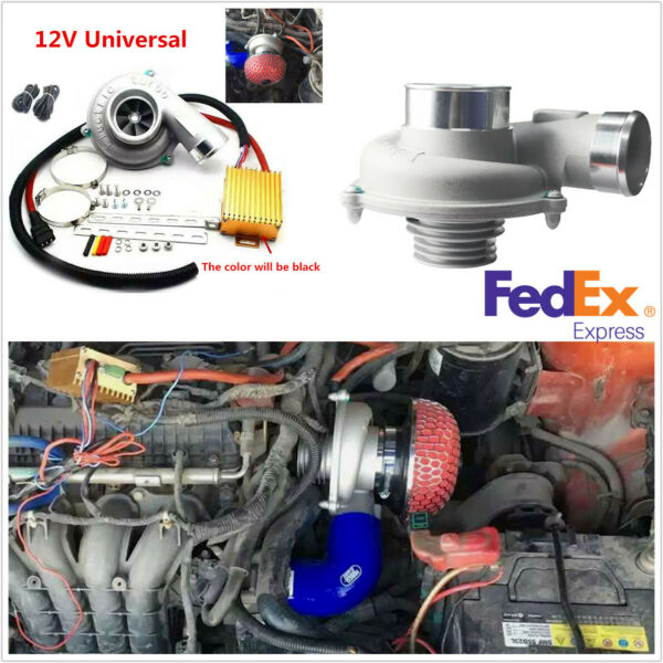 Electric Turbo Supercharger Kit Motorcycle Car Turbovcharger Air Filter Intake