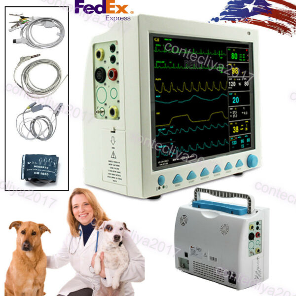 CMS8000VET Veterinary Pet Patient Monitor 6-parameter ICU Vital SignsCONTEC USA