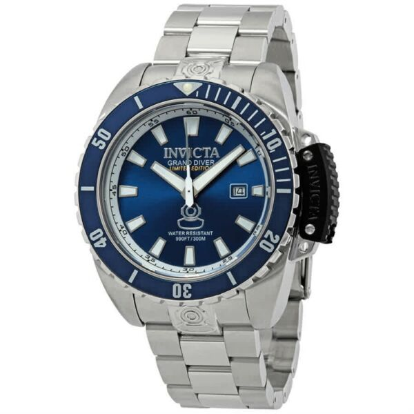 New Mens Invicta Limited CRUISELINE Swiss 46mm Blue Dial Crown Guard Watch