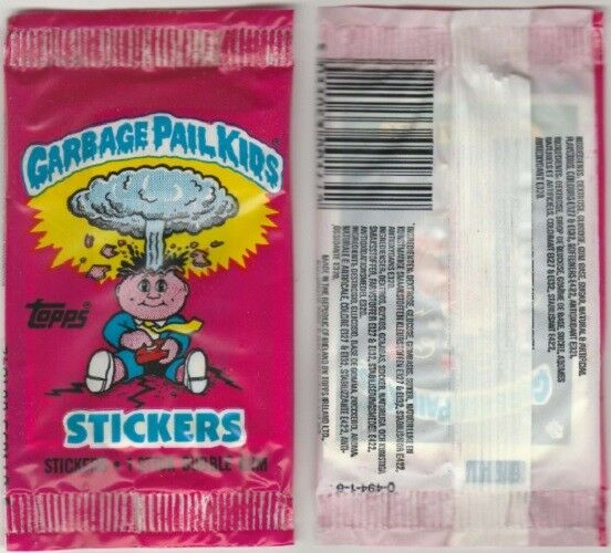 1985 TOPPS Garbage Pail Kids SERIES 1 United Kingdom Unopened Pack 3 STICKERS