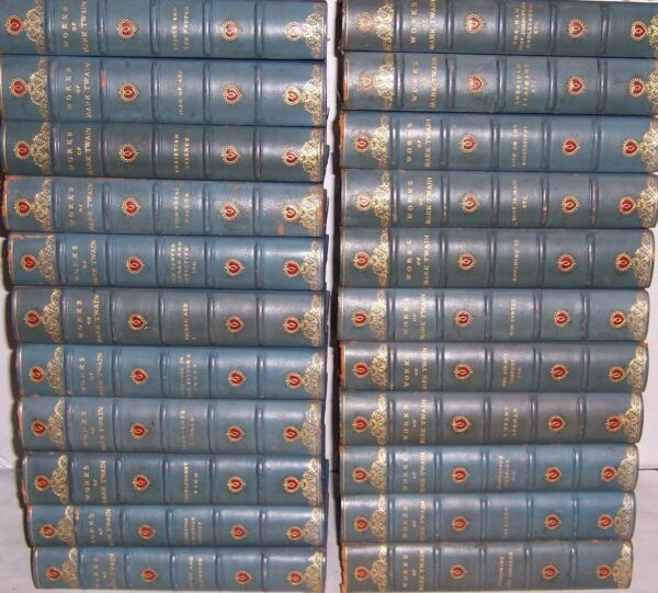 Harper & Brothers 1923 Mississippi Edition WORKS OF MARK TWAIN in 22 vols