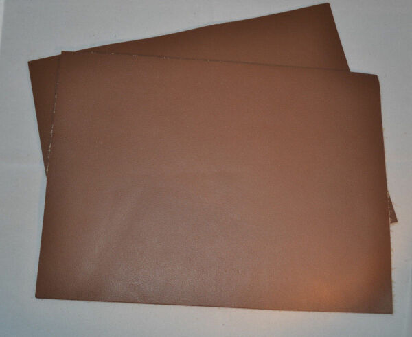 Leather Pieces - Brown Top Grain - 3-4 oz - 6
