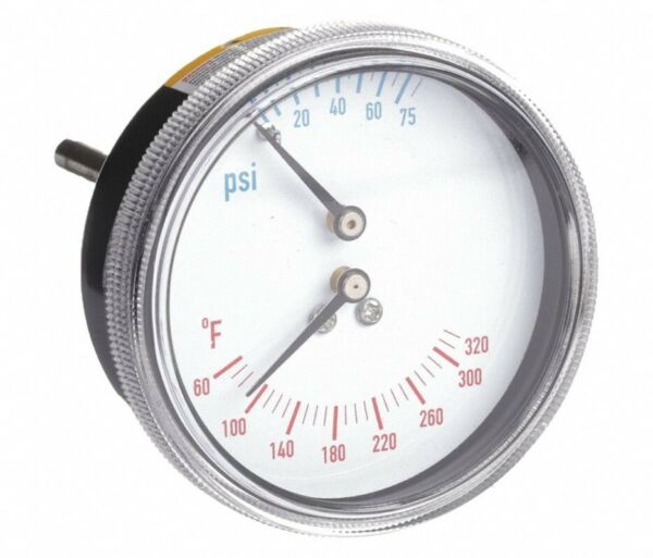 2 1 2quot; 0 to 75 psi Round Boiler Gauge with 1 4quot; MNPT Center Back Connection $18.95