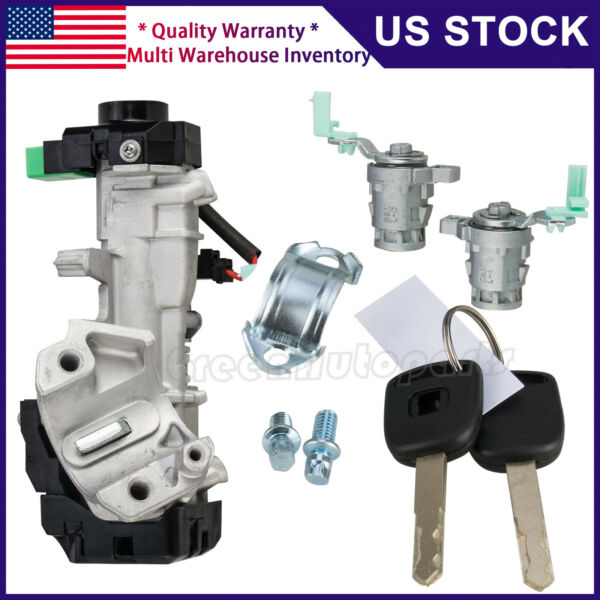 Ignition Switch Cylinder Auto Door Locks For Honda Civic 03-05 48chip W 2 KEYS