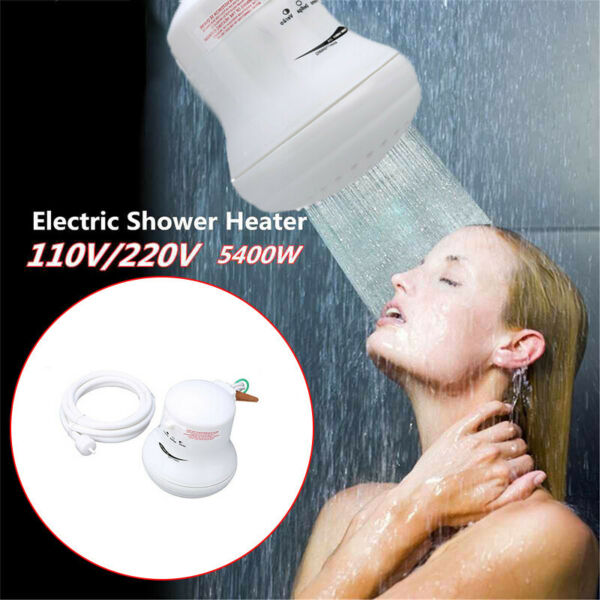 5400W 110V220V Electric Shower Head Heat Instant Hot Water Heater Bath Tool US