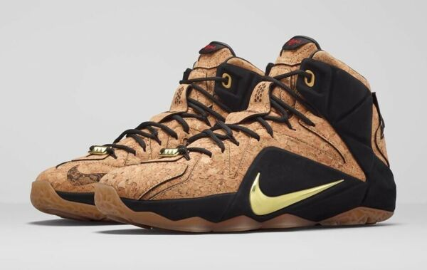 Nike LeBron 12 XII EXT King's Cork Size 8.5 768829-100 kyrie bhm what the wheat