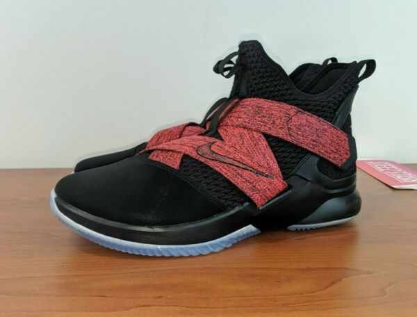 Nike Lebron Soldier XII 12 Mens Basketball Sneakers BRED Red AO2609-003 Size 10