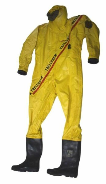 Trellchem Super Marine Solid Hazardous Chemical Ship Industrial Safety Suit