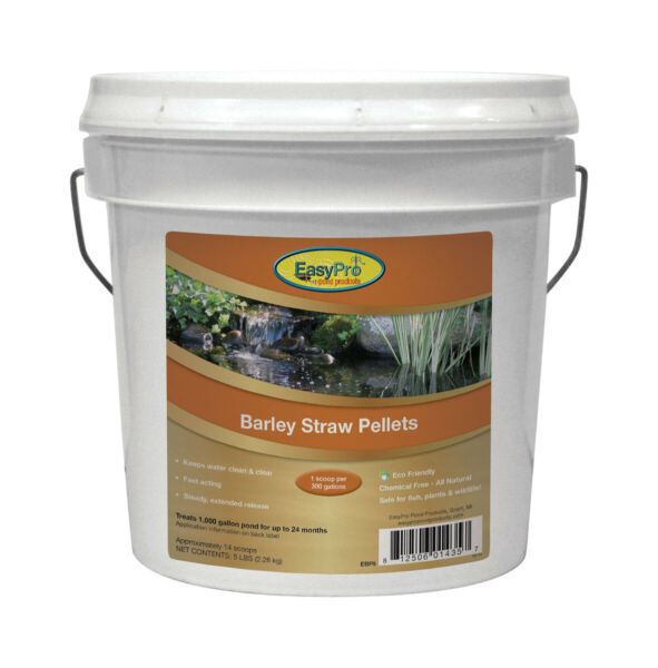 EasyPro Barley Straw Pellets 5 Lb Pail EBP5 Natural Safe Pond Water Treatment