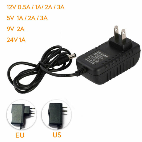 DC5V 12V 9V 24V 1A 2A 3A 0.5A Power Supply Adapter US EU Plug LED Strip light GL
