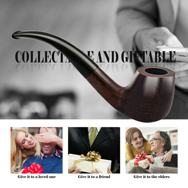 London England Paorosa Wood Pipe Tobacco Cigarette Cigar Tube Wooden Pipes Gifts $17.99