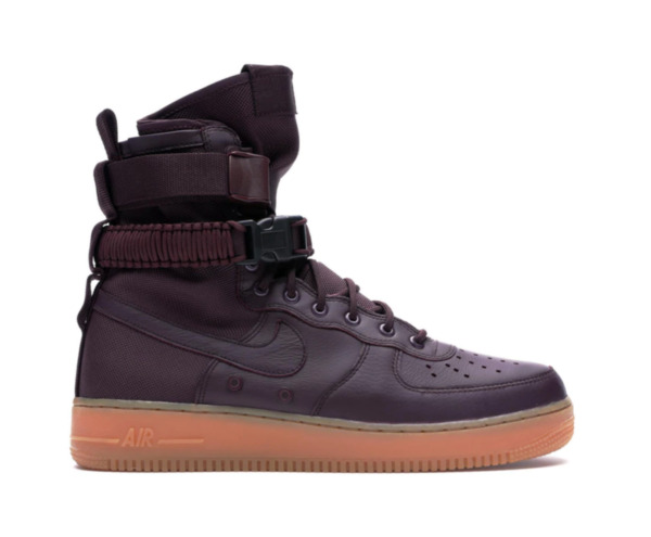 Nike SF AF1 High Air Force One Men's Shoes Size 8 Deep Burgundy/Gum NEW