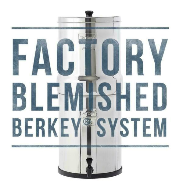 Factory Blemished Travel Berkey Water Filter w 2 Black Berkey Filters NEW
