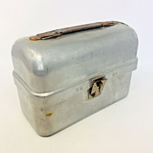 Vintage Leyse Aluminum Domed Top Lunch Box Pail - Wis USA 8957